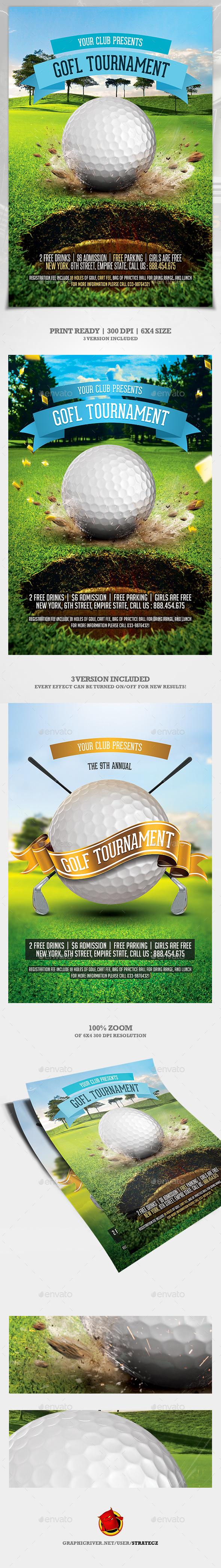 Golf Flyer - Print Templates