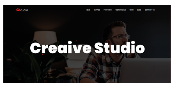 CStudio - One Page Creative parallax Template