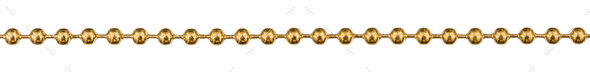 Decorative chain, decorative element for manual work, isolated o - Stock Photo - Images