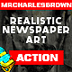 Realistic Newspaper Art Photoshop Action - GraphicRiver Item for Sale