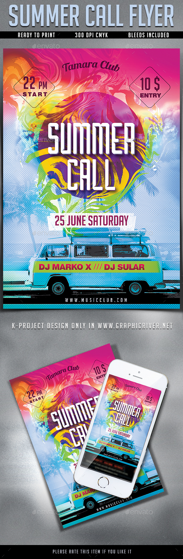 Summer Call Party Flyer - Clubs & Parties Events