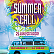 Summer Call Party Flyer - GraphicRiver Item for Sale