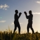 Boxing Workout with Trainer Outdoors - VideoHive Item for Sale