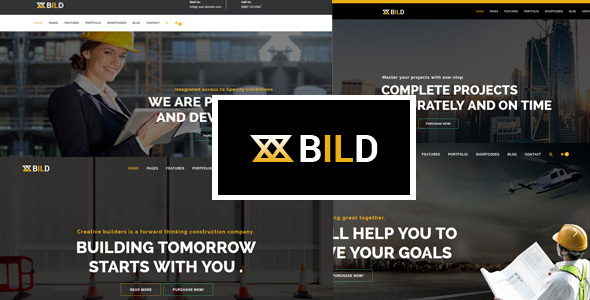Bild | Building, Construction HTML5 Template Free Download | Nulled