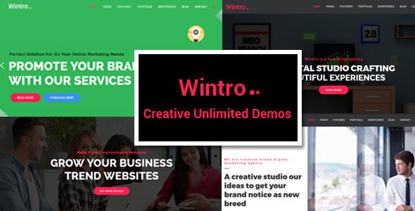 Wintro - Responsive Multi-Purpose HTML Template Free Download | Nulled