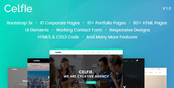 Image of Celfie - Bootstrap 3x Multi-Purpose HTML5 Template