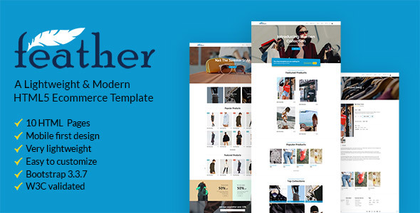 Image of FEATHER – A Lightweight & Modern Ecommerce Template