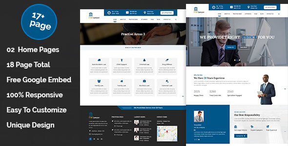 ImLawyer - Law Firm, Law Agency, Lawyer, Attorneys HTML5 Responsive Template