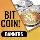 Bitcoin Crypto Currency Banner Set