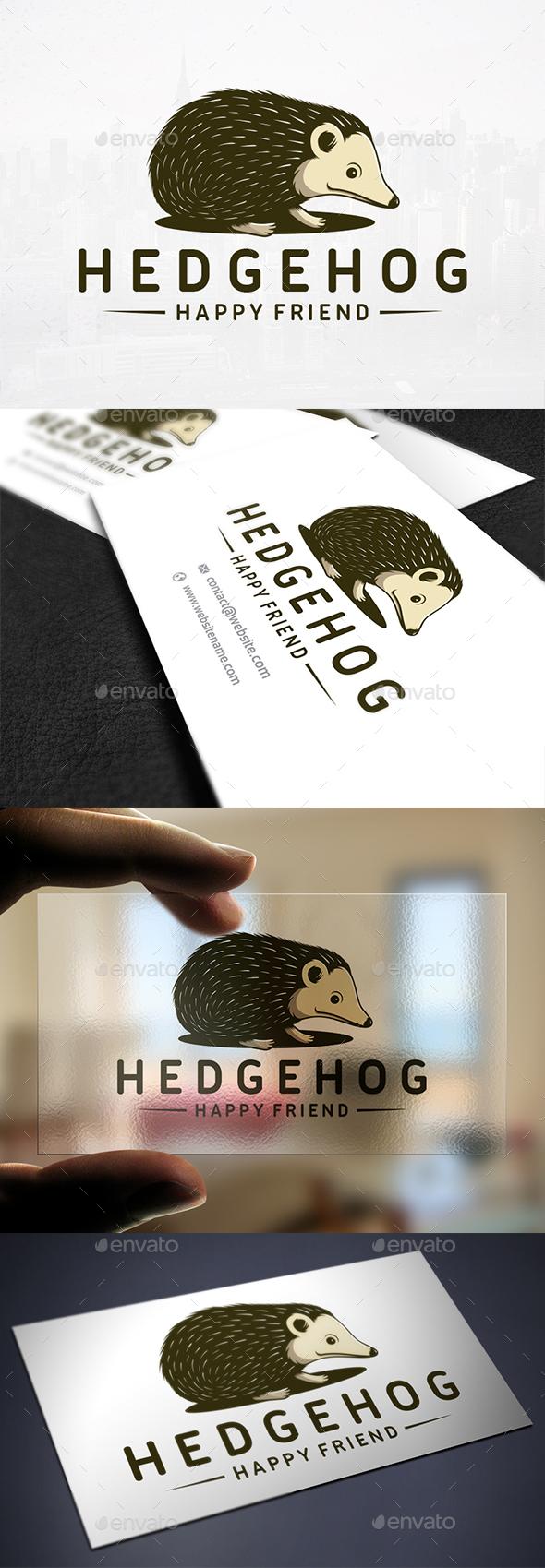 Illustrative Hedgehog Logo Template - Animals Logo Templates