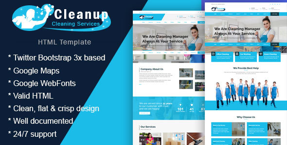 Image of Cleanup - Cleaning Business HTML Template