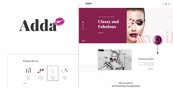 Adda – Blog & Fashion WordPress Theme