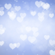 Hearts Bokeh on Blue Background - VideoHive Item for Sale