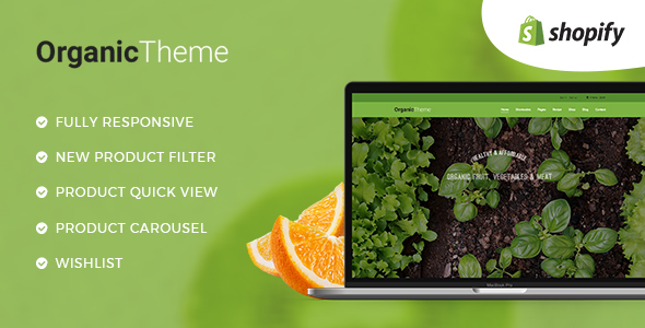 ORGANIC | Organic Farm & Food Business Shopify Theme - Shopify eCommerce