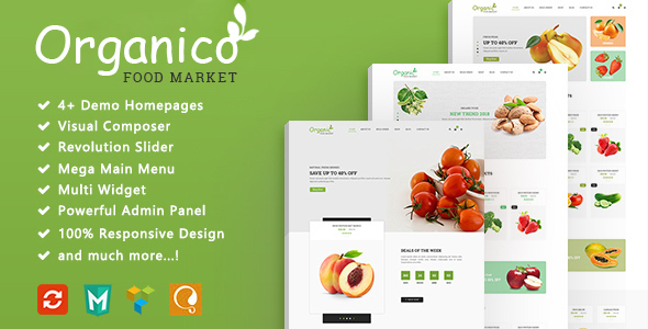 Organico - Fresh Fruits Responsive WooCommerce WordPress Theme