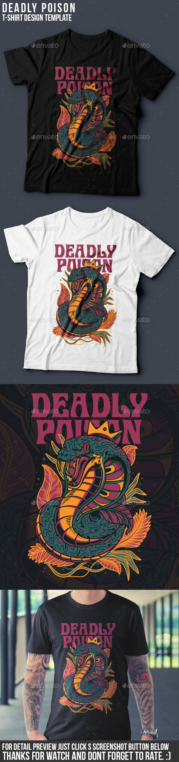 Deadly Poison T-Shirt Design - Funny Designs