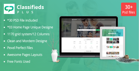 Classified Plus - Classifieds Websites PSD Templates - Corporate PSD Templates