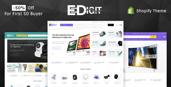 Image of eDigit - Sectioned Multipurpose Shopify Theme