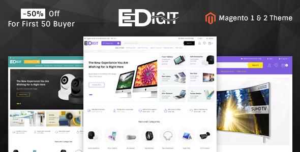eDigit - Responsive Magento 1 & 2 Theme - Shopping Magento