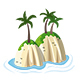 Hills with Tropical Palm Trees - GraphicRiver Item for Sale
