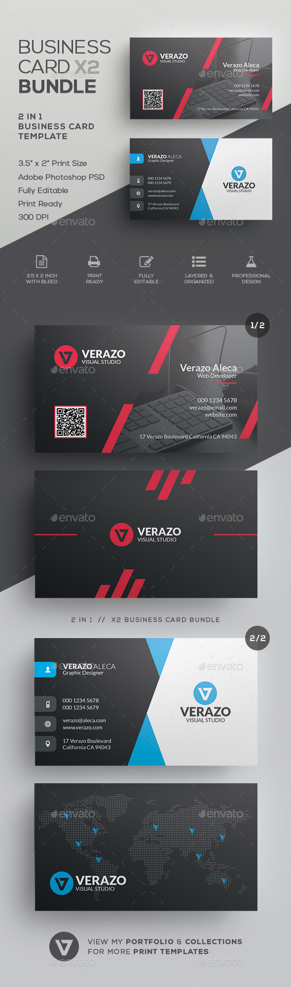 Business Card Bundle 50 by verazo | GraphicRiver