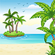 Tropical Coastal Landscape - GraphicRiver Item for Sale