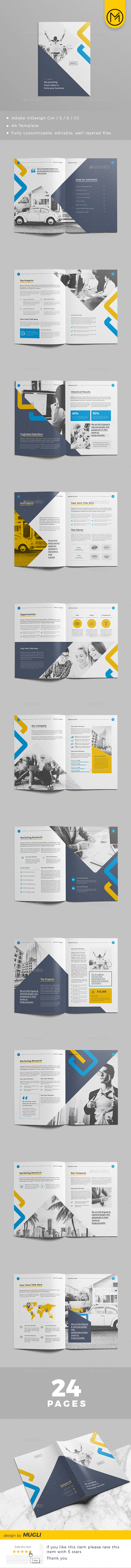 Indesign A4 Company Profile - Corporate Brochures