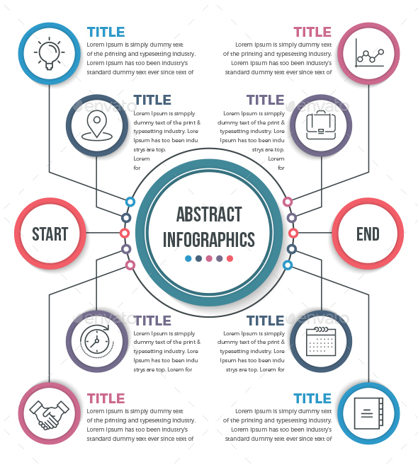 Abstract Business Infographics (10 Steps) - Infographics