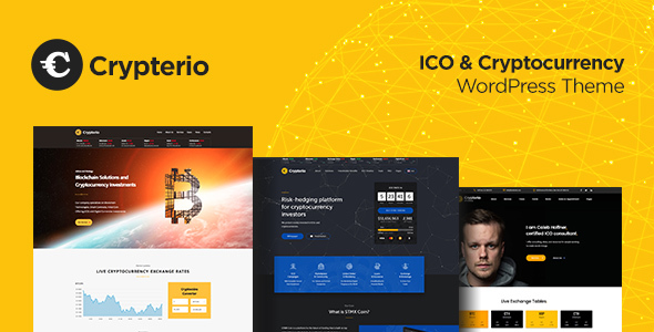 Crypterio - Bitcoin, ICO and Cryptocurrency WordPress Theme - Technology WordPress