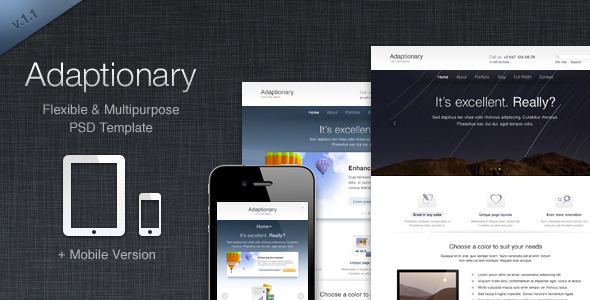 Adaptionary PSD Template - Corporate PSD Templates