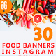 30 Food Instagram Banners - GraphicRiver Item for Sale