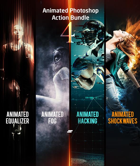 Animated Photoshop Action Bundle 04 - Photo Effects Actions