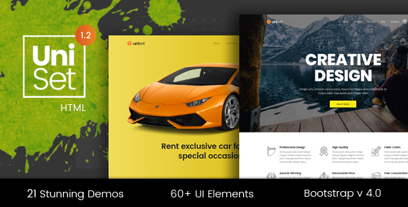 UniSet - Premium Multi-Concept Landing Pages Pack by DSAThemes