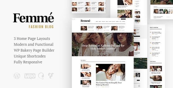 Femme - An Online Magazine & Fashion Blog WordPress Theme - Blog / Magazine WordPress