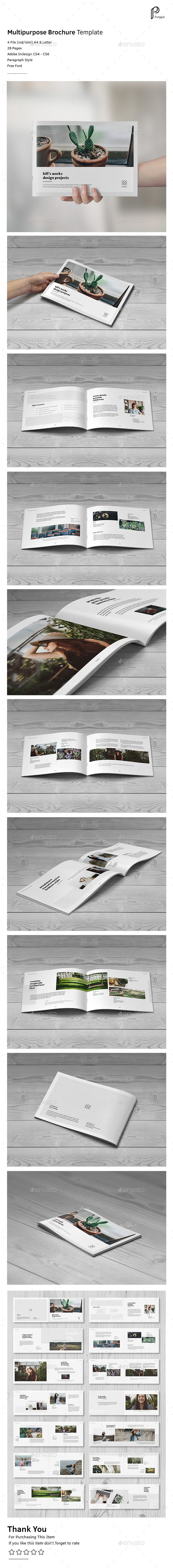 Simple Multipurpose Portfolio Vol.4 (Landscape) - Portfolio Brochures