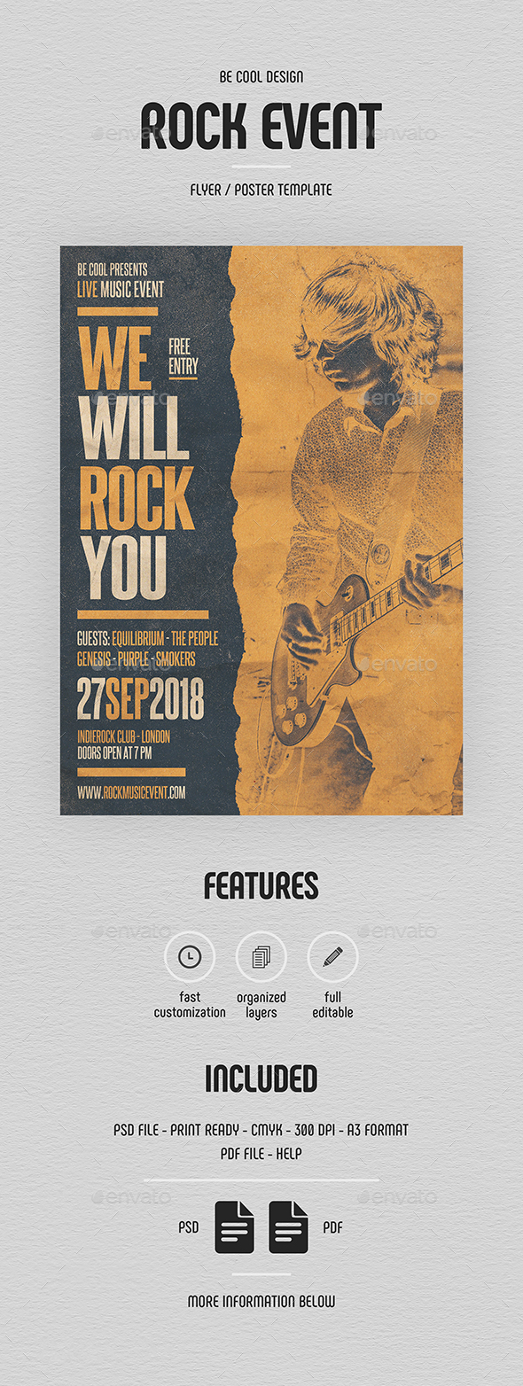 Rock Flyer/Poster - Concerts Events