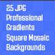 Square Mosaic Gradient Backgrounds