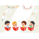 Vector Illustration of Kids Choir - GraphicRiver Item for Sale