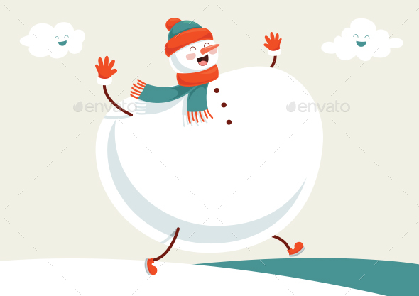 Vector Illustration Of Winter Scene - Christmas Seasons/Holidays
