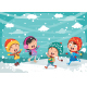 Vector Illustration Of Winter Scene - GraphicRiver Item for Sale