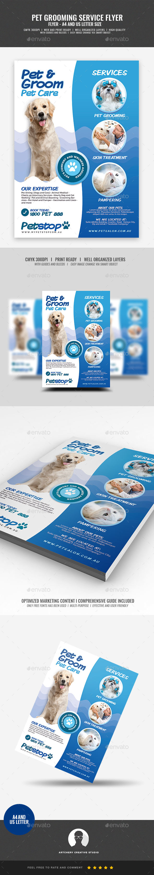 Pet Care and Grooming Services Flyer - Corporate Flyers