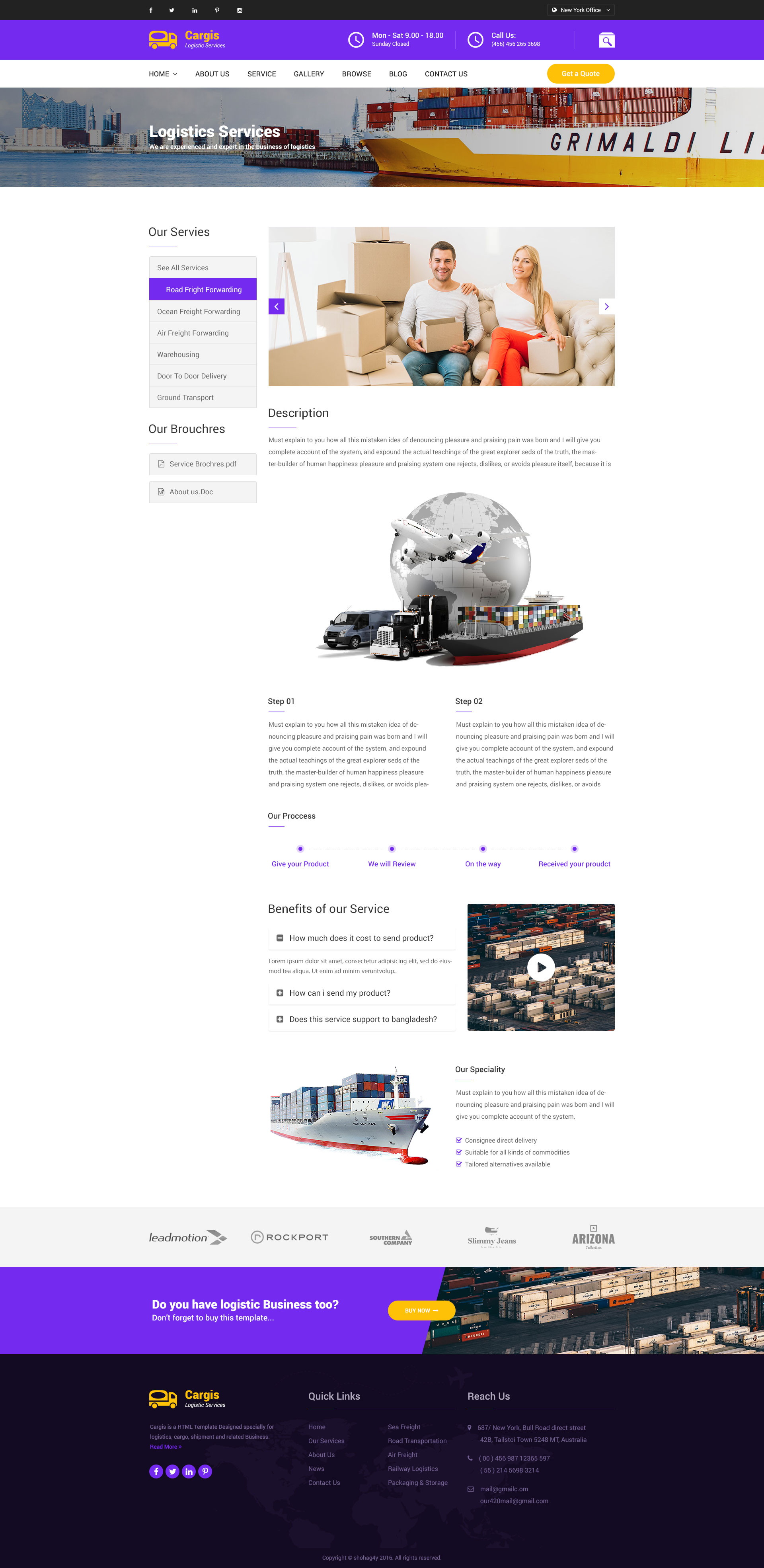 cargo freight logistics transportation psd template by yearhossain