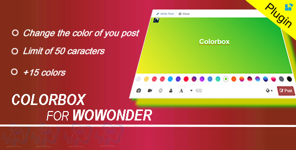 Plugin Colorbox For Wowonder - CodeCanyon Item for Sale