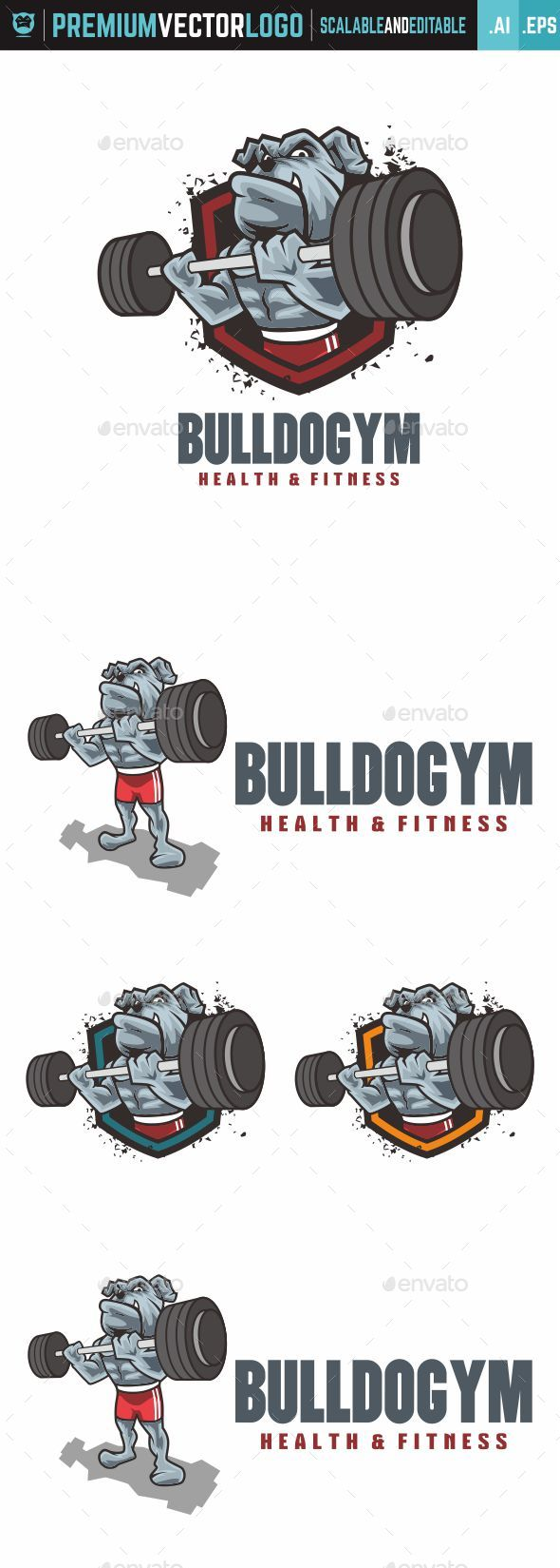 Gym Dog Logo - Animals Logo Templates