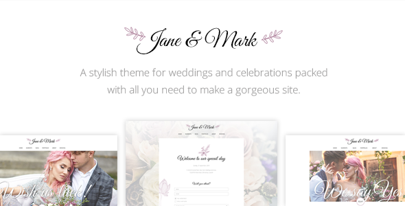 Jane & Mark – A Stylish Theme for Weddings and Celebrations