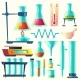Vector Cartoon Laboratory Equipment