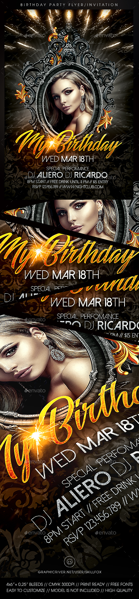 Birthday Party | Invitation Flyer Template - Events Flyers