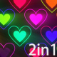 Neon Hearts Backgrounds - VideoHive Item for Sale
