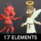 Angel And Devil Plasticine Clay (17 Elements) - VideoHive Item for Sale