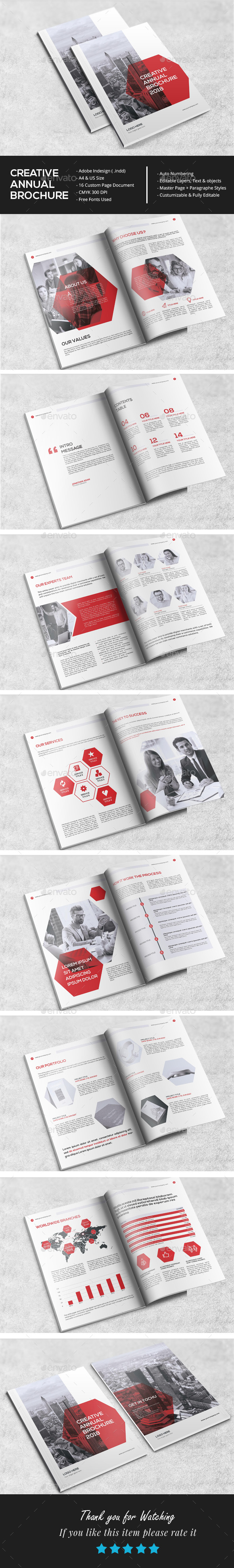 Clean Annual Brochure Template - Corporate Brochures